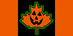 Canadian Halloween Flag